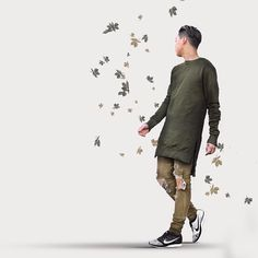 """Leaf // @favelaclothing Olive Pull-Over"""
