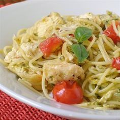 Pesto Pasta with Chicken | Make a big batch of pesto and keep it on hand for quick weeknight meals.
