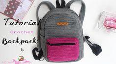 Tutorial crochet backpack || ransel rajut