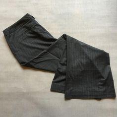 90e639df23ac 15.78 | Warehouse Pinstripe Grey Wide Leg Trousers Formal Smart Work Office  Wear Size 12
