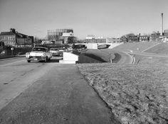 Looking West on Highway 40 from terminus at Vandeventer 1957
