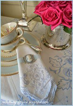 Rosemary and Thyme: Vintage Beautiful Cameo Jewelry, Tea Art, Tea Cakes, Vintage Table, Vintage China, Drinking Tea, Tea Time, Floral Arrangements, Table Settings