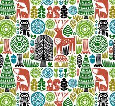 forest pattern by dennisthebadger, via Flickr. Dennis Bennett.