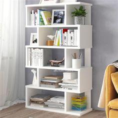 Visit the post for more. Room Design Bedroom, Home Room Design, Modern Bedroom, Bedroom Decor, Teen Bedroom, White Bookshelves, Bookshelves In Living Room, Bedroom Bookshelf, Bookcases
