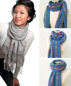 How to wear a blanket scarf shawl tie scarves ideas - womenaccess. - How to wear a blanket scarf shawl tie scarves ideas – womenaccessory Source by ndochat - How To Wear A Blanket Scarf, Ways To Wear A Scarf, How To Wear Scarves, Tie A Scarf, Pashmina Scarf, Scarf Wrap, Diy Fashion, Autumn Fashion, 1950s Fashion