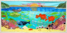 Our completed 4th grade Wyland-inspired Ocean Mural » K - 6 Art K – 6 Art