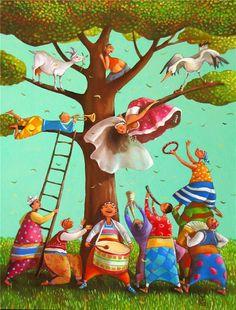 Bulgarian painter and illustrator Mariana Kalacheva was born in Plovdiv, Bulgaria. Education: 2003 - Graduates the AMDFA/ Academy of Musi...