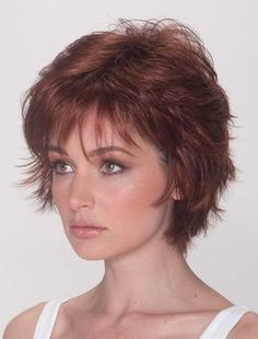 Wigsis provides variety of Good Auburn Layered Straight Short Wigs with good customer service and fast shipment, including short curly wigs,short brown wig for customer. Short Curly Wigs, Curly Hair With Bangs, Curly Hair Cuts, Long Curly Hair, Curly Hair Styles, Natural Hair Styles, Short Pixie, Pixie Cuts, Edgy Pixie