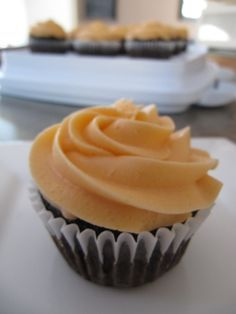 Double Orange Buttercream Cupcake Frosting