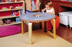 Table Furniture for Kids - Offi Woody Chalkboard Table Diy Kids Furniture, Table Furniture, Kids Toys For Boys, Diy For Kids, Vintage Inspired Bedroom, Chalkboard Table, Chalkboard Paint, Plywood Table, Aluminum Table
