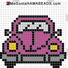 megustahamabeads escarabajo rosa