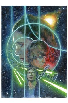 *PRINCESS LIEA ORGANA (Carrie Fisher), LUKE SKYWALKER (Mark Hamill) & HAN SOLO ((Harrison Ford) ~ Cover art for 'Star Wars #12'
