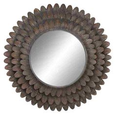 Found it at Wayfair - Wall Accent Metal Mirror...diy with plastic spoons and some textured paint?
