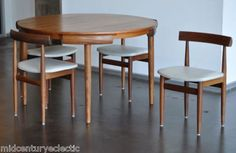 This Danish Modern masterpiece was designed in the by Hans Olsen for Frem Rojle with the skirt of the table, making it a perfect compact dining solution for small spaces. Its design is so economical yet almost whimsical, like a puzzle or game of Tetris. Small Space Dining Set, Small Tables, Small Spaces, Dining Sets, Small Rooms, Dining Rooms, Kitchen Dining, Living Dining Combo, Sofa Set Designs
