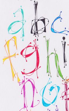 invented alphabet...hand lettering