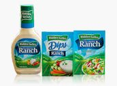Hidden Valley Ranch HOMEMADE with buttermilk works nicely with approx 5 carbs in 1/4 cup! (Lord knows you better not be using that much!!)