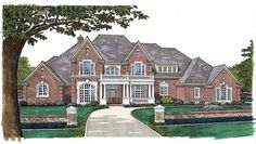 New American House Plan with 5388 Square Feet and 5 Bedrooms(s) from Dream Home Source | House Plan Code DHSW49262