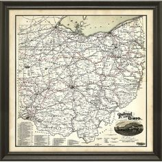 I pinned this Ohio Map Framed Wall Art from the World of Wall Art event at Joss and Main!