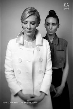 """missbelivet: """" Cate Blanchett and Rooney Mara for the LA Times. Photo by Jay Clendenin. """""""