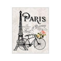 París Torre Eiffel y bicicleta Paris Art Print por MomentsOfArt
