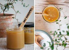 Lækker hjemmelavet karamelsauce lavet af den skønneste saltkaramel - brug kun tre ingredienser og lav denne nemme lækre karamel