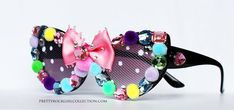 Kawaii inspired cat eyed bow sunglasses by PrettyRockGirl on Etsy, $48.00