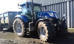 C&O Tractors New Holland T7.225 on demo in Dorset, UK.