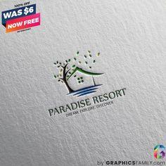 GraphicsFamily – Free and paid Logos, Illustrations, Mockups and Free Logo Templates, Circular Logo, Resort Logo, Round Logo, Free Graphics, Paradise, Retro, Logos, Illustration