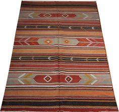 navajo rug turkish kilim rug vintage kilim rug 5x9 by POCCARugs