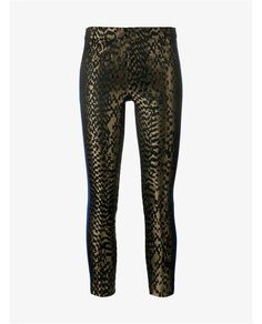 HAIDER ACKERMANN Silk And Leather Skinny Printed Trousers. #haiderackermann #cloth #