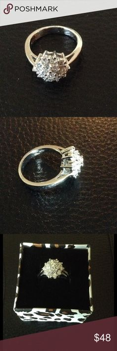 Sterling Silver CZ Ring Sterling Silver CZ Ring. Size  8 1/2 Sterling Silver Jewelry Rings
