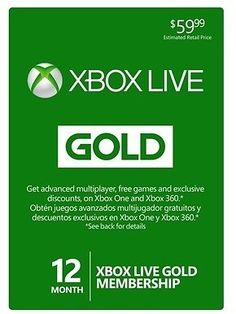 12-Month Xbox Live Gold Membership