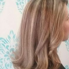 """She had about 2"""" roots new growth.i did highlights only to break the line of demarcation, then,toned with beige tone. - Yelp"""