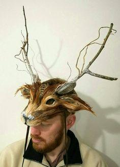 Luxury Deer Mask Woodland Deer Mask Reindeer Mask Festival