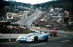 1970 .. Spa 1000kms . The 6th placed Porsche 917 , entered by Porsche Salzburg , driven by Attwood / Herrmann