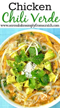 Chicken Chili Verde With Avocado this recipes packed with AMAZING flavor and delicious ingredients!