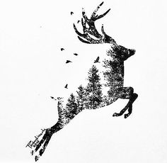 ideas for tattoo animal deer inspiration – cover – … - Tattoo-Ideen Cute Tattoos, Body Art Tattoos, Tattoo Drawings, Art Drawings, Xoil Tattoos, Hand Tattoos, Sleeve Tattoos, Animals Tattoo, Tattoo Animal