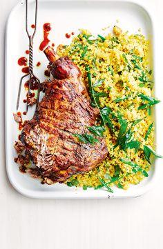 Lamb leg and spiced 'rice' Lamb Recipes, Roast Recipes, Dinner Recipes, Lamb Pasta, Lamb Dinner, Fried Beans, Spiced Rice, Spiced Cauliflower, Lamb Chops
