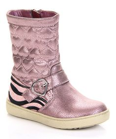 Another great find on #zulily! Pink Quilted Heart Boot #zulilyfinds