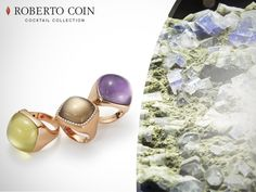 Lemon quartz gives energy, smoked quartz represents resistence and amethyst brings calmness. Which precious stone are you? Italian Jewelry, Roberto Coin, Lemon Quartz, High Society, Corporate Gifts, Amethyst, Coins, Gemstone Rings, Fine Jewelry