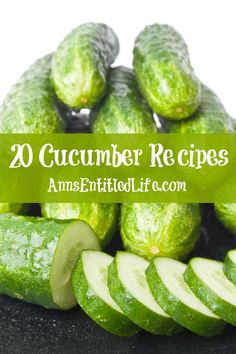 20 Cucumber Recipes; Crunchy, fresh cucumbers are amazingly versatile. Reach beyond summer salads with these unique and refreshing 20 Cucumber Recipes. http://www.annsentitledlife.com/recipes/20-cucumber-recipes/