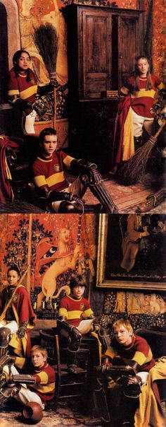 The Team Photo - I remember having this magazine with the very first Harry Potter photos!