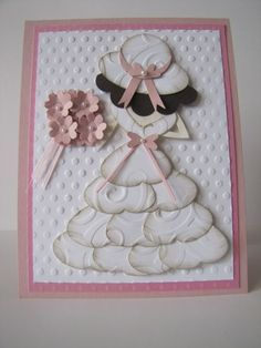 Bitz & Bites Scrapin: Wedding Card Punch Art Using the Butterfly Punch and the Heart Punch