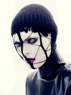 Modern Goth: dark hair makes the face stand out more vmagazine: Model Malgosia Bela photographed by Paolo Roversi
