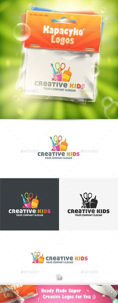Creative Kids - Logo Design Template Vector #logotype Download it here: http://graphicriver.net/item/creative-kids-logo/10049211?s_rank=1166?ref=nesto