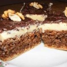 Reteta de post: prajitura cu nuca Yami Yami, Sweets Recipes, Desserts, Fudge, Tiramisu, Ale, Food And Drink, Cooking, Ethnic Recipes