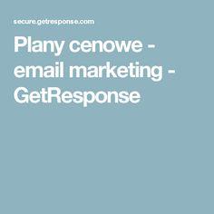 Plany cenowe - email marketing - GetResponse
