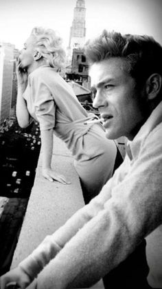 Marilyn Monroe and James Dean <3 Perfect couple!