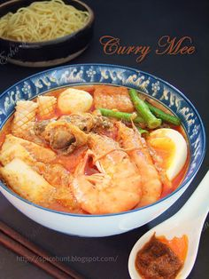 A very authentic Malaysian dish, noodle in flavorful curry broth with seafoods.