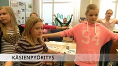"Here you have several easy examples to stop sitting, shown by a school class from the ""Finnish Muuvit"". Team Building Exercises, Brain Breaks, Motor Activities, Activity Games, Children, Kids, Teacher, Entertaining, School"